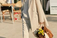 a cute all-neutral outfit for fall and winter