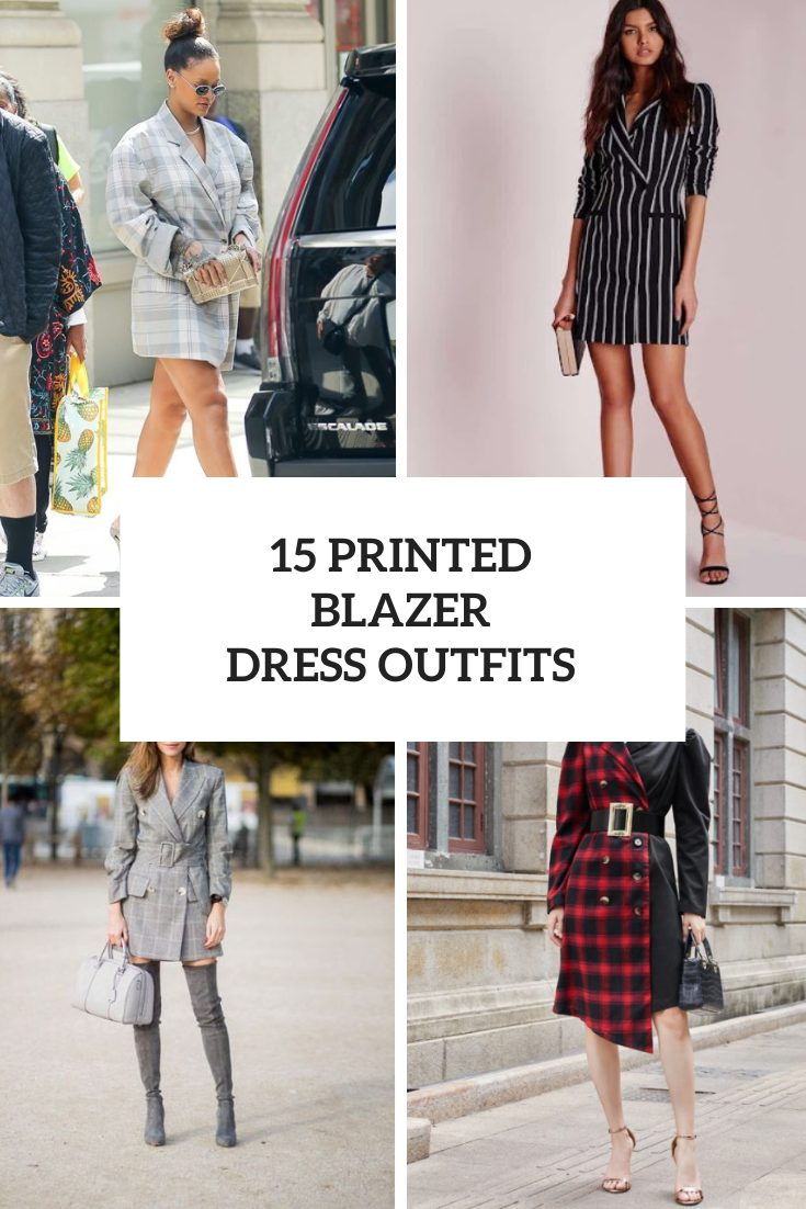 15 Looks With Printed Blazer Dresses