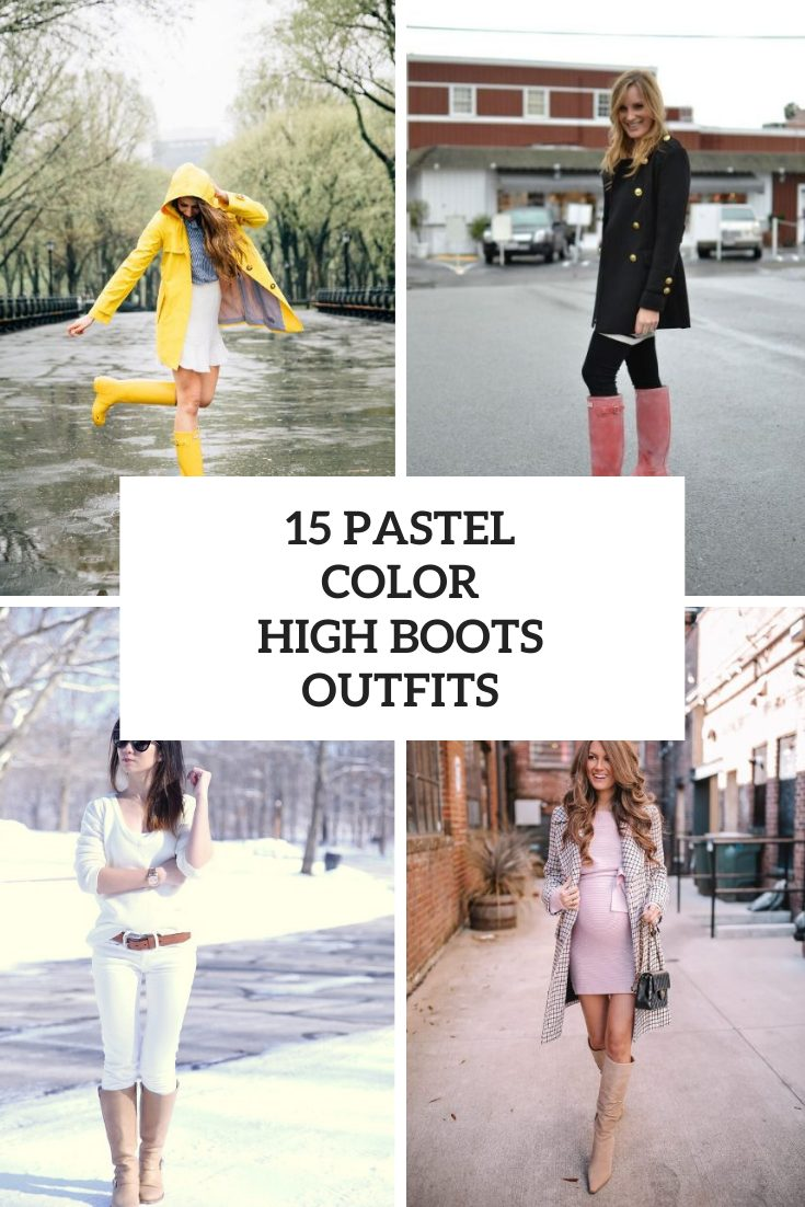 15 Outfits With Pastel Colored High Boots