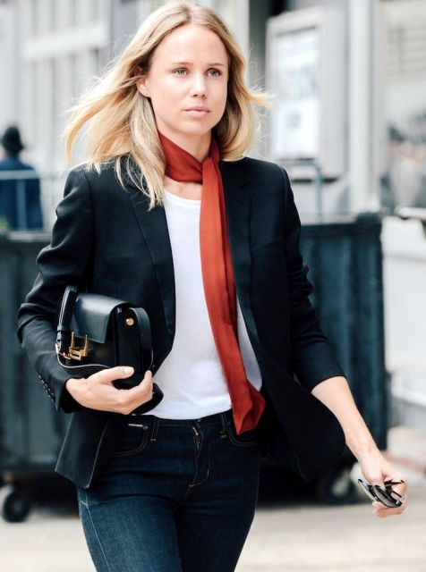 21 Skinny Scarf Ideas To Rock This Fall