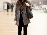 21 Trendy Fall Outfits With Wide Brim Hats11