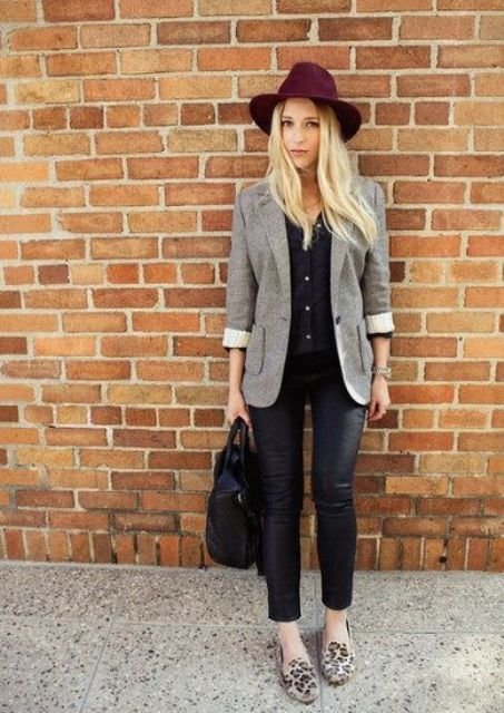 Trendy Fall Outfits With Wide Brim Hats