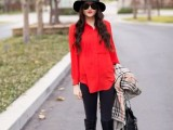 21 Trendy Fall Outfits With Wide Brim Hats4
