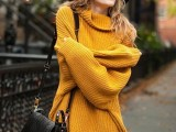 21 Trendy Fall Outfits With Wide Brim Hats5