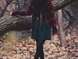 21 Trendy Fall Outfits With Wide Brim Hats7
