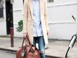 21 Trendy Fall Outfits With Wide Brim Hats9