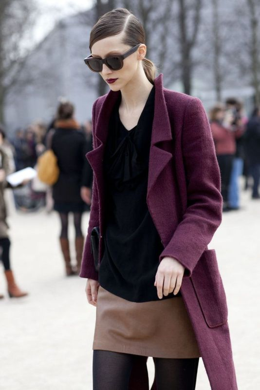 Picture Of cool ways of wearing a bright coat this winter  9