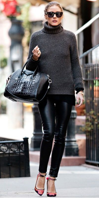 Picture Of stylish ways to wear leather pants right now  11