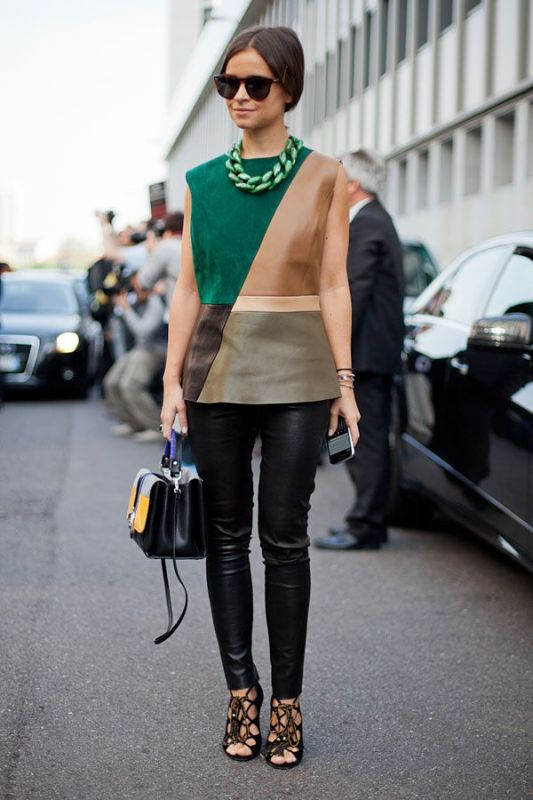 Picture Of stylish ways to wear leather pants right now  14