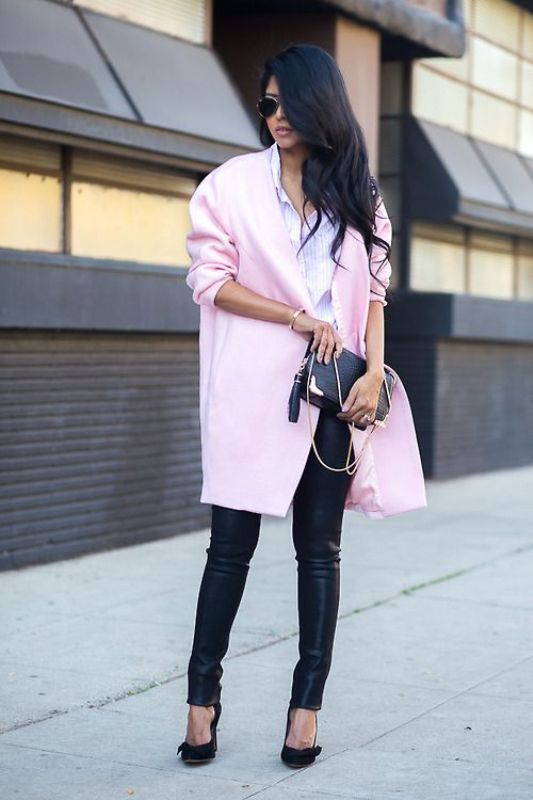 Picture Of stylish ways to wear leather pants right now  19