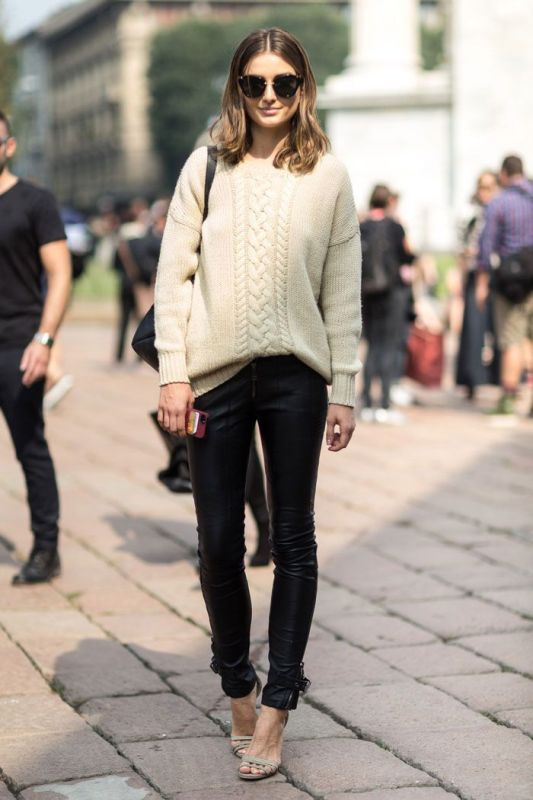 Picture Of stylish ways to wear leather pants right now  2