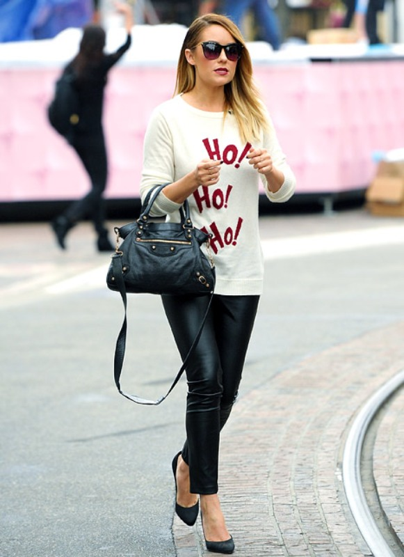 Picture Of stylish ways to wear leather pants right now  7
