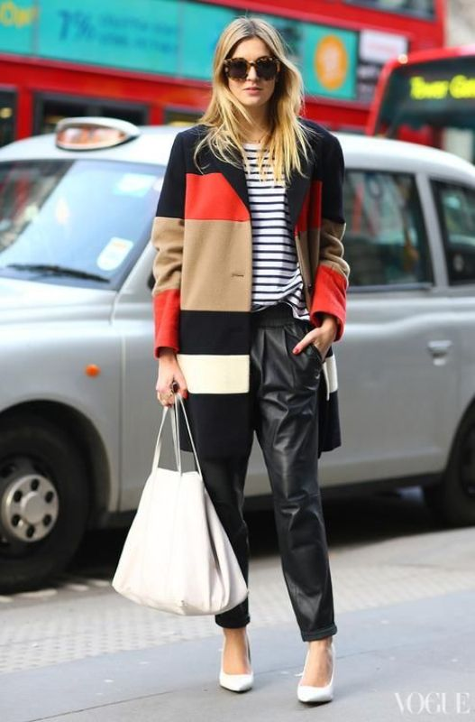 Picture Of stylish ways to wear leather pants right now  9