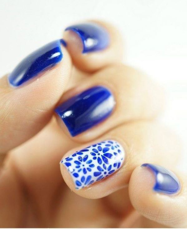 Picture Of sweet flower nail designs to try this summer  11