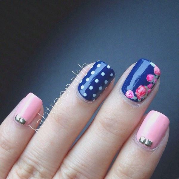 Picture Of sweet flower nail designs to try this summer  14
