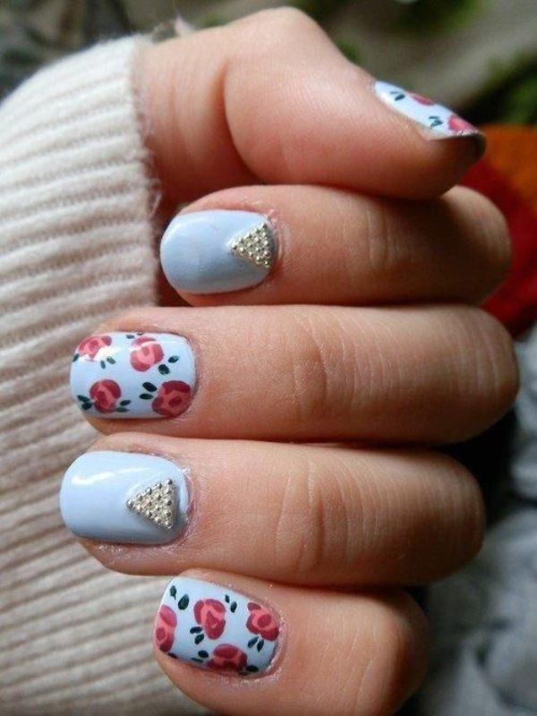 Picture Of sweet flower nail designs to try this summer  17