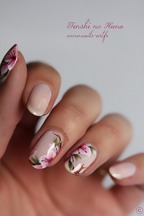 Floral Manicures For Spring And: 21 Sweet Flower Nail Designs To Try This Summer