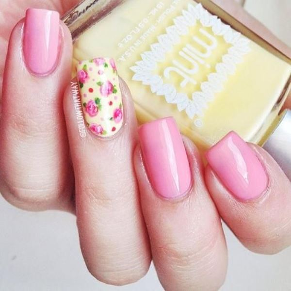 Picture Of sweet flower nail designs to try this summer  21