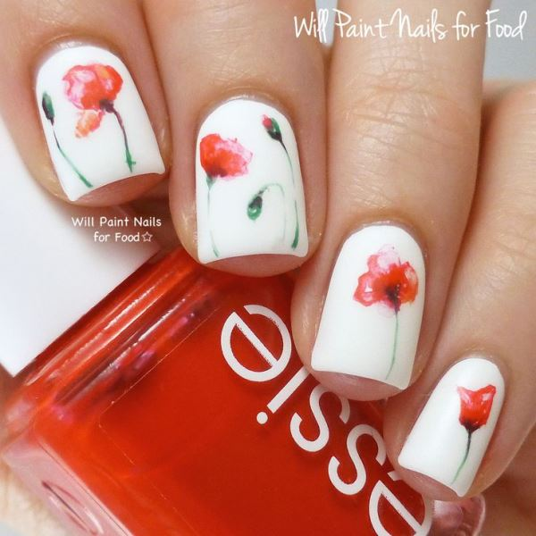 Picture Of sweet flower nail designs to try this summer  6