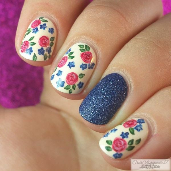 Picture Of sweet flower nail designs to try this summer  8
