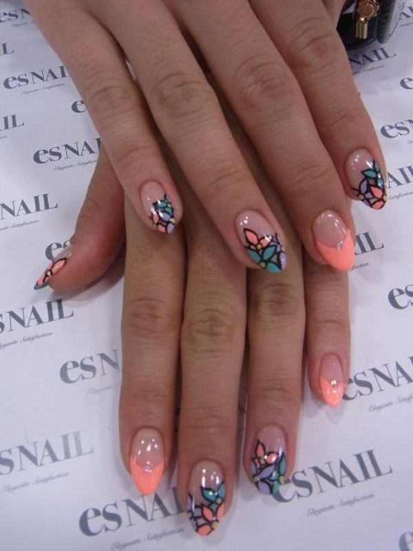 Picture Of sweet flower nail designs to try this summer  9