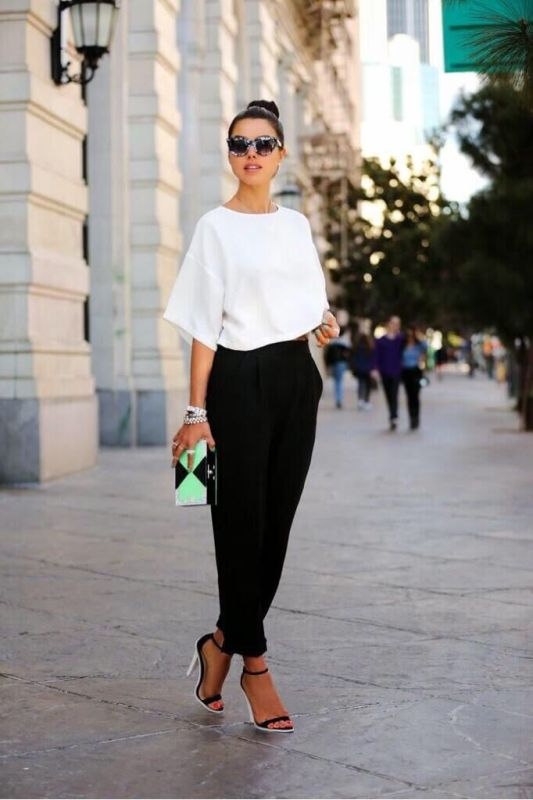 Picture Of trendy black and white outfits to copy now  21
