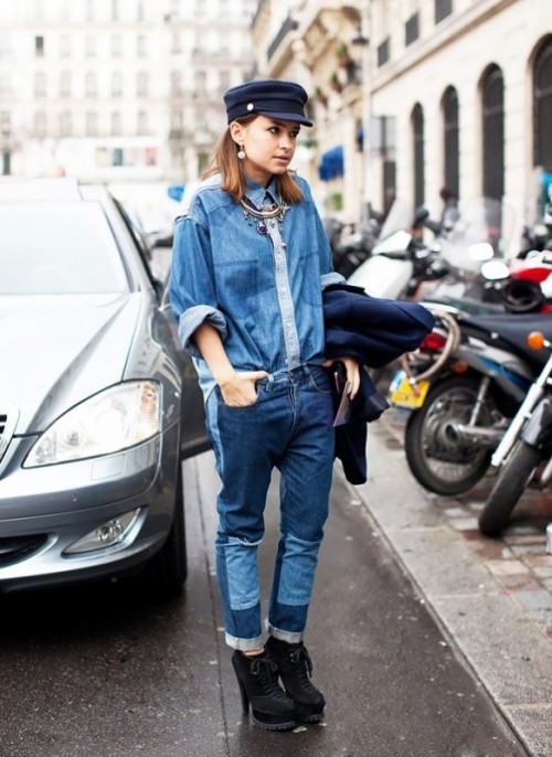 21 Trendy Outfits With Patchwork Denim To Recreate