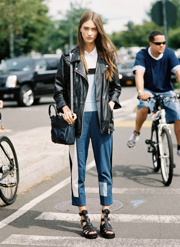 Picture Of trendy outfits with patchwork denim to recreate  10