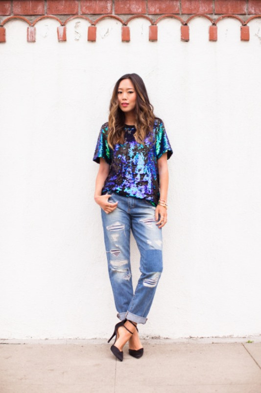 Picture Of trendy outfits with patchwork denim to recreate  11