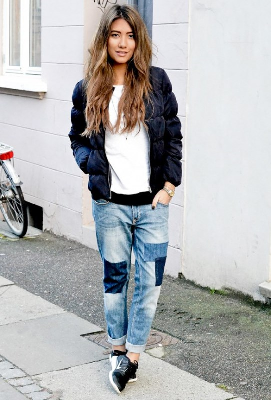 Picture Of trendy outfits with patchwork denim to recreate  14
