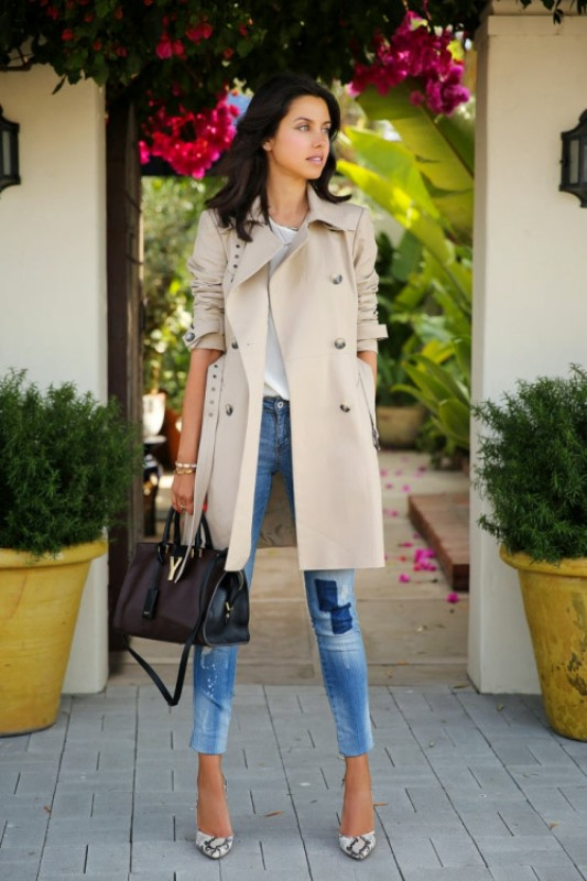 Picture Of trendy outfits with patchwork denim to recreate  16