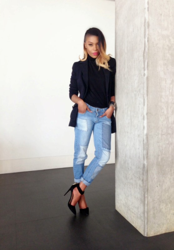 Picture Of trendy outfits with patchwork denim to recreate  20