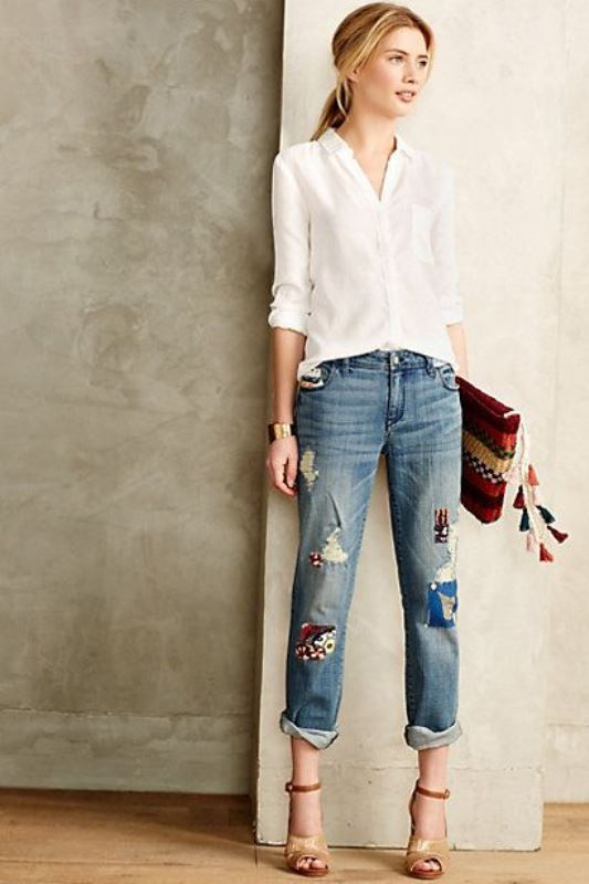 Picture Of trendy outfits with patchwork denim to recreate  3