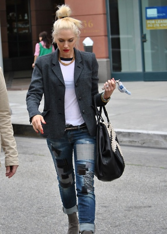 Picture Of trendy outfits with patchwork denim to recreate  7