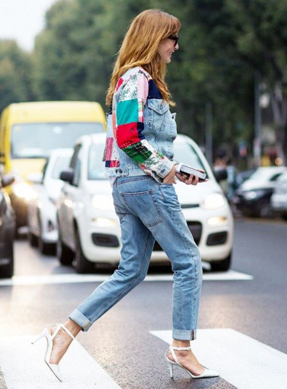Picture Of trendy outfits with patchwork denim to recreate  9