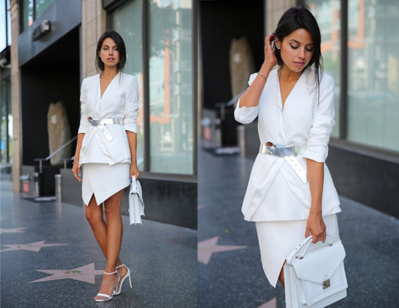 Picture Of elegant all white office appropriate outfits to copy  19