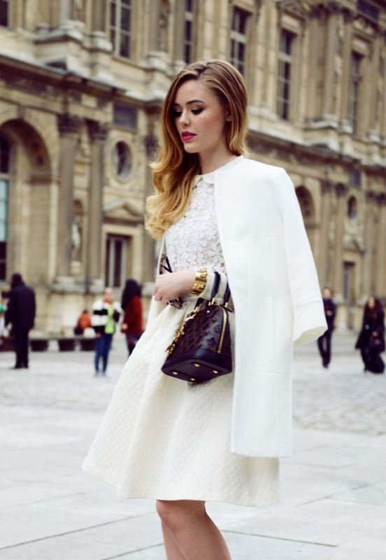 Picture Of elegant all white office appropriate outfits to copy  20