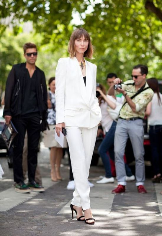 Picture Of elegant all white office appropriate outfits to copy  5