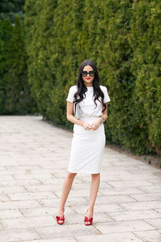 Picture Of elegant all white office appropriate outfits to copy  7