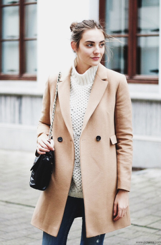 Picture Of trendy camel coat styling ideas for fall  1