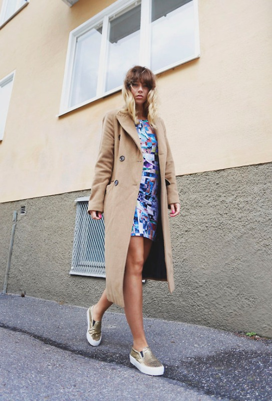 Picture Of trendy camel coat styling ideas for fall  11