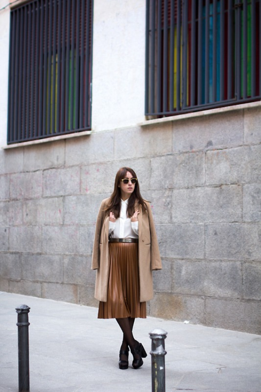 Picture Of trendy camel coat styling ideas for fall  20