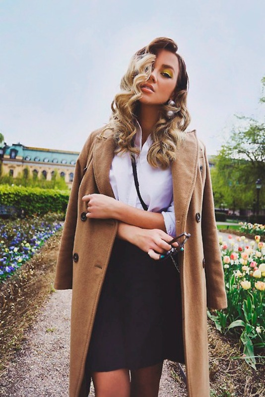 Picture Of trendy camel coat styling ideas for fall  21