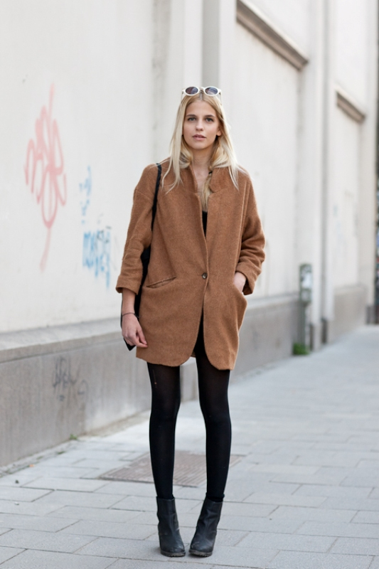 Picture Of trendy camel coat styling ideas for fall  9