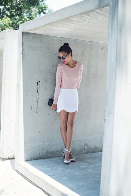 Picture Of trendy soft pink summer looks to recreate  18
