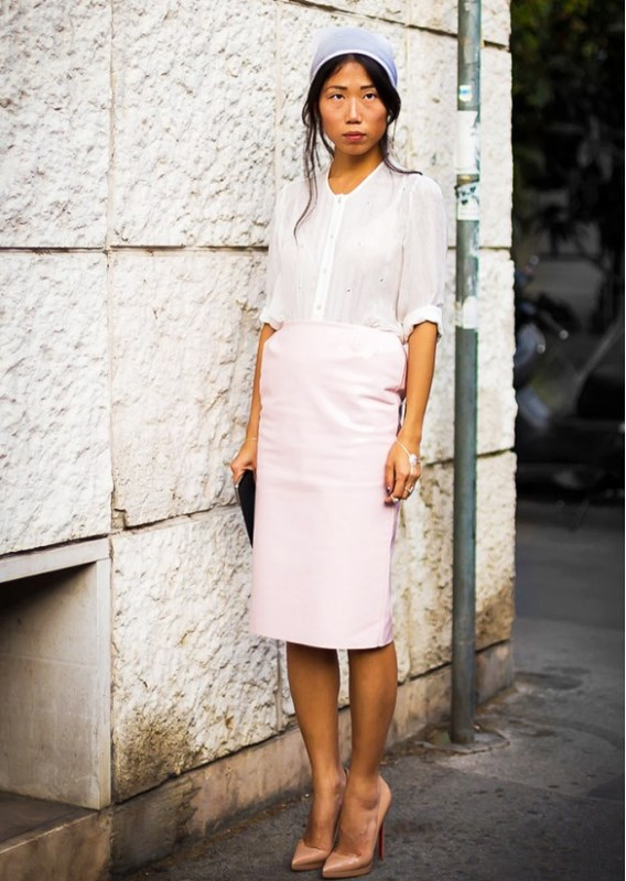 Picture Of trendy soft pink summer looks to recreate  19