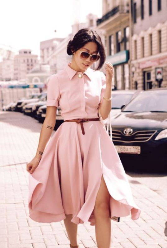 Picture Of trendy soft pink summer looks to recreate  9