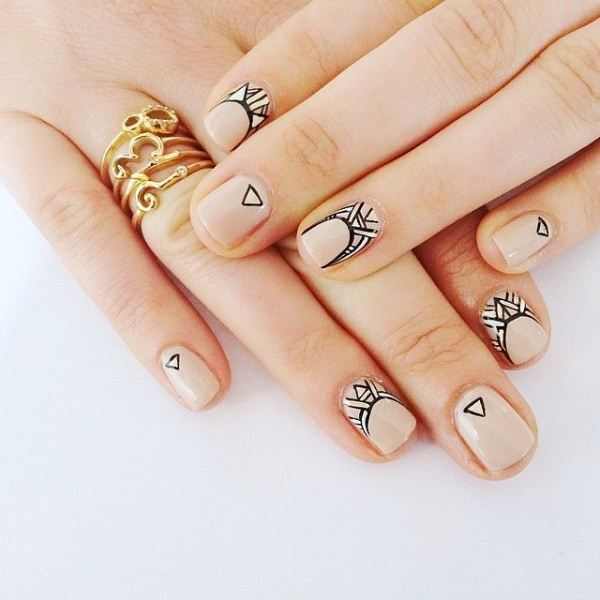 Picture Of cool nude nails that are nowhere near boring  9