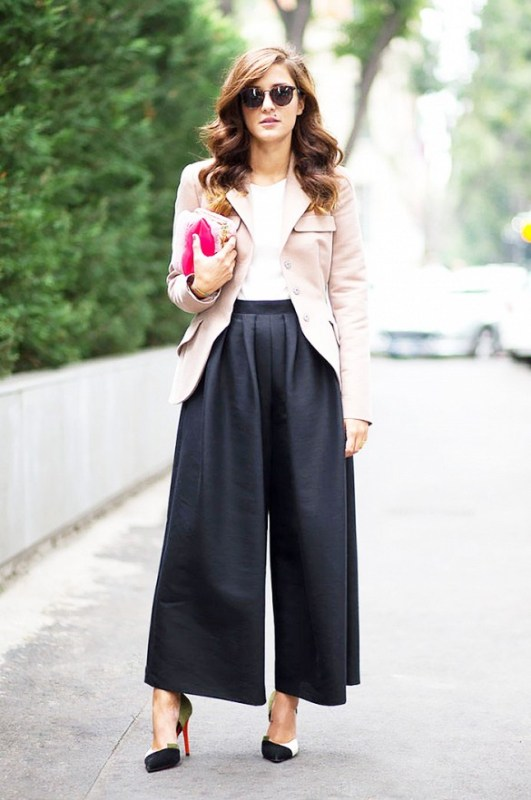 Picture Of fashionable and trendy ways to wear culottes this spring  11