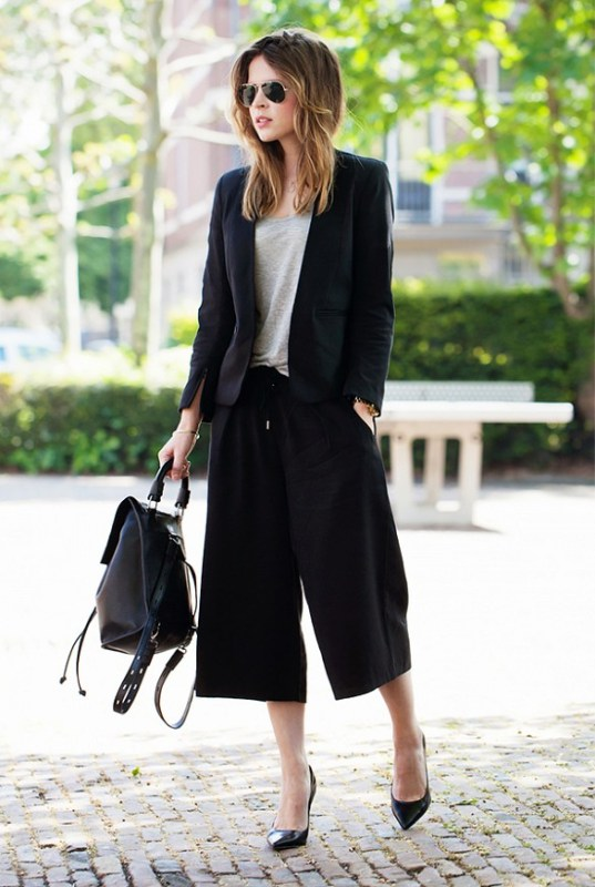 Picture Of fashionable and trendy ways to wear culottes this spring  14